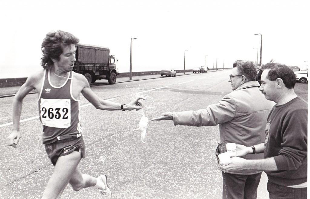 Winning his first half marathon Dundee 85