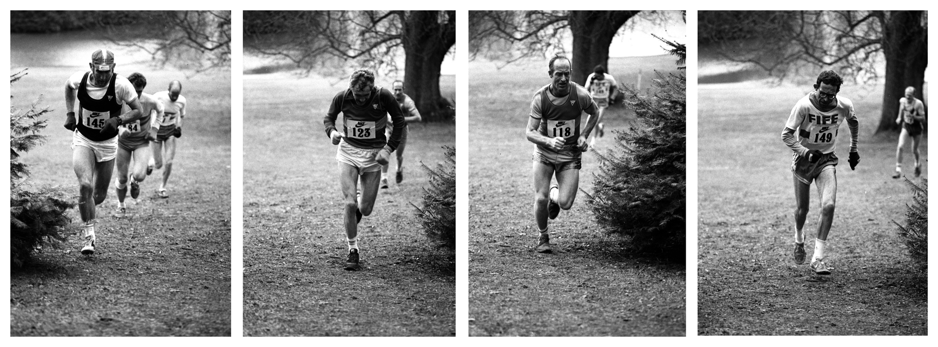 Scottish Vets X Country, 1985. photo-graham macindoe