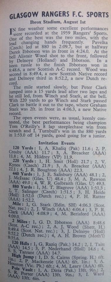 WHB RFC Sports 1959