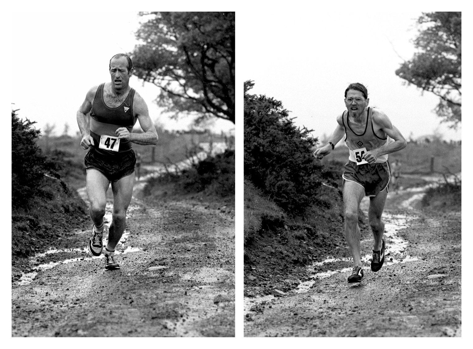 B Carty, D fairweather, Cairnpapple Vets Hill Race, 1984
